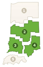 Map of the Areas McGuckin, Dan works in